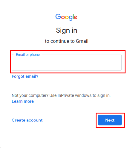 Login to your Gmail account