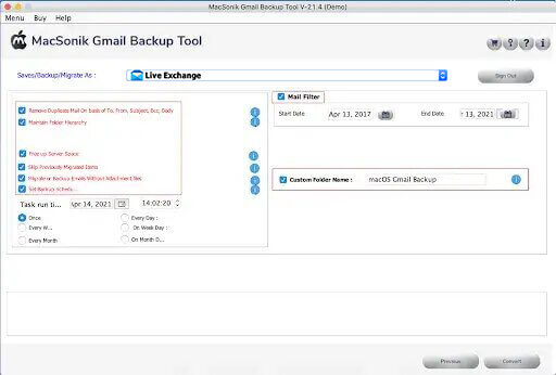 Select the additional features of the tool as per your requirement.