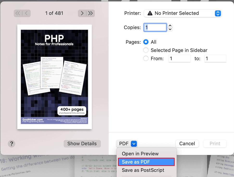 add password to pdf on mac